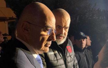 Φονικός σεισμός στην Αλβανία: Ο Νίκος Δένδιας έφτασε στο Δυρράχιο