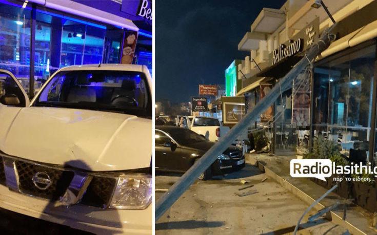 Ιεράπετρα: Αγροτικό έπεσε σε τζαμαρία επιχείρησης