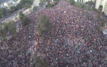 Πανικός στη Χιλή από τον εγκέλαδο που «χτύπησε» την ώρα των διαδηλώσεων