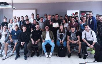 O Πρωταθλητής Ευρώπης & Ελλάδος στο Πόλο, Θοδωρής Βλάχος, στο δωρεάν σεμινάριο Προπονητικής του ΙΕΚ ΑΛΦΑ Πειραιά