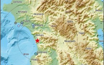 Σεισμός τώρα στην Μεσσηνία