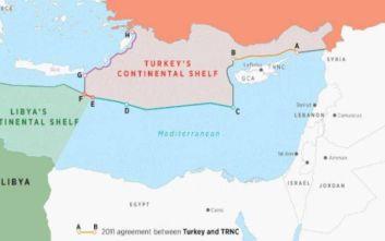 Νέος προκλητικός χάρτης από Τουρκία
