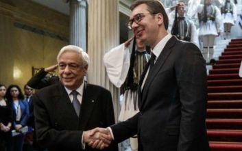 Ο Σέρβος πρόεδρος Αλεξάνταρ Βούτσιτς κατέθεσε στεφάνι στον Άγνωστο Στρατιώτη