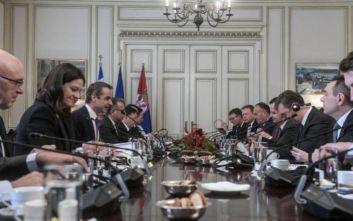 Μητσοτάκης σε Βούτσιτς: Συμφωνώ ότι πρέπει να φυλάμε ο ένας  την πλάτη του άλλου