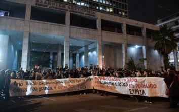 Συγκέντρωση στο κέντρο της Αθήνας - Κλειστό τμήμα της λεωφόρου Αλεξάνδρας