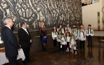 Στον Δημήτρη Κουτσούμπα η παιδική χορωδία της Παλαιστινιακής Παροικίας στην Ελλάδα