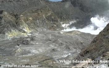 Νέα Ζηλανδία: Κάμερα κατέγραψε τουρίστες στον κρατήρα του ηφαιστείου λίγα λεπτά πριν την έκρηξη