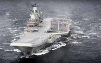 Συναγερμός για φωτιά στο ρωσικό αεροπλανοφόρο «Admiral Kuznetsov»