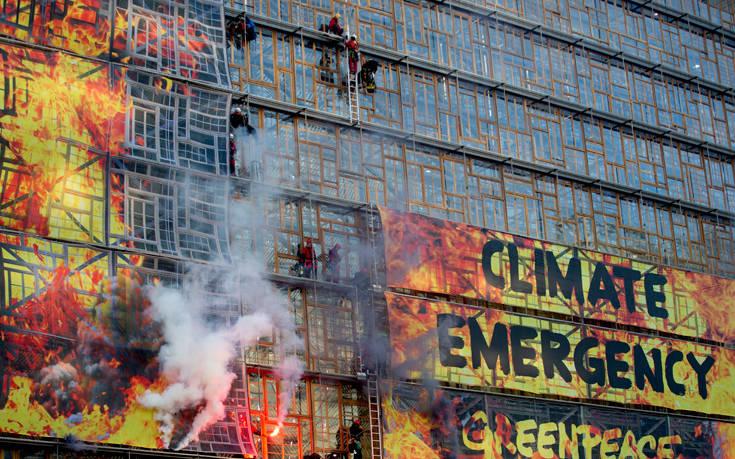 Ακτιβιστές έκαναν κατάληψη στο κτίριο του Ευρωπαϊκού Συμβουλίου