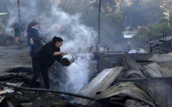 Χιλή: Μεγάλες ζημιές από την πυρκαγιά στο Βαλπαραΐσο – Καταστράφηκαν 245 σπίτια