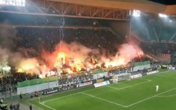 «Φωτιά» έβαλαν οι οπαδοί της Σεντ Ετιέν παρόλο που δέχθηκαν 4 γκολ