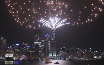 Πρωτοχρονιά 2020: Η Νέα Ζηλανδία υποδέχθηκε τη νέα χρονιά με πυροτεχνήματα