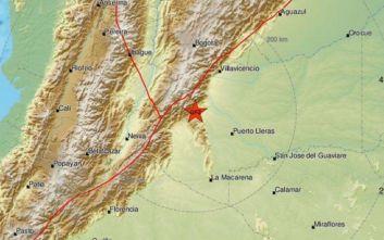 Ισχυρός σεισμός ταρακούνησε την Κολομβία