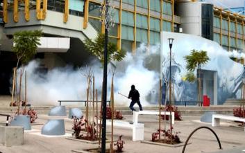 Επεισόδια στο Μαρούσι: Συμπλοκές, ζημιές και δακρυγόνα
