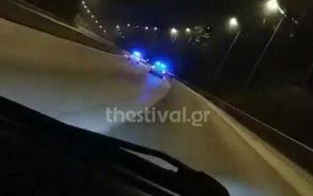 Βίντεο ντοκουμέντο από την καταδίωξη διακινητή μεταναστών στη Θεσσαλονίκη