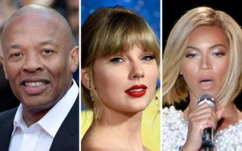 Η λίστα των 10 πλουσιότερων μουσικών καλλιτεχνών της δεκαετίας