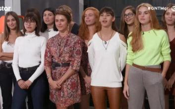 GNTM 2: Πώς αντέδρασαν τα κορίτσια στο ημίγυμνο concept «Σύγχρονη Εύα»