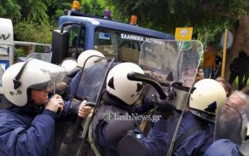 Ηράκλειο Κρήτης: Επεισόδια μεταξύ αγροτών και ΜΑΤ