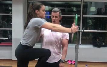 Η Μαρία Σάκκαρη λιώνει στο γυμναστήριο