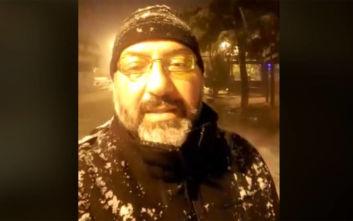 Καιρός: Η live μετάδοση του Σάκη Αρναούτογλου στα χιόνια