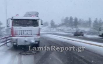 Κακοκαιρία Ζηνοβία: Πυκνό χιόνι στο Μαρτίνο