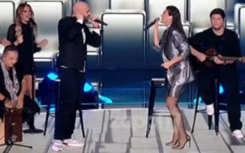Τελικός Final Four: Ο Μιχάλης Κουινέλης τραγούδησε με την Ήβη Αδάμου και ξεσήκωσαν τους πάντες