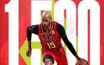 Θρύλος ο Κάρτερ έφτασε τις 1.500 συμμετοχές στο NBA