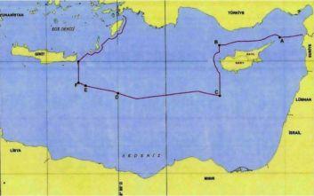 Συμφωνία Τουρκίας - Λιβύης: Στη δημοσιότητα ο χάρτης με τις θαλάσσιες ζώνες