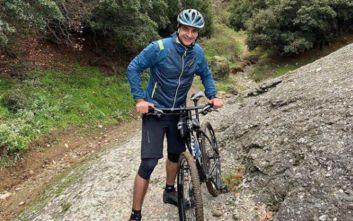 Η πρωινή βόλτα του Κυριάκου Μητσοτάκη στα Μετέωρα με mountain bike
