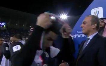 Γιουβέντους-Λάτσιο 1-3: Η αντίδραση του Ρονάλντο όταν πήρε το μετάλλιο του ηττημένου