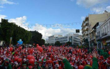 Χανιά: Ξεχύθηκαν στους δρόμους οι Άη Βασίληδες του Santa Run