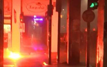 Επέτειος Γρηγορόπουλου 2019: Ένταση με μολότοφ και χημικά στην Πάτρα, δυο τραυματίες