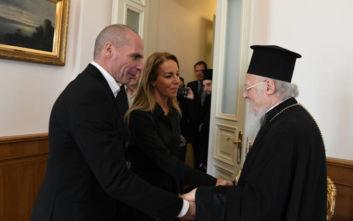 Τον Οικουμενικό Πατριάρχη επισκέφτηκε το ζεύγος Βαρουφάκη