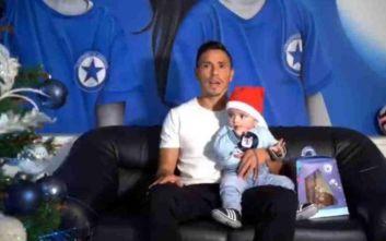 Χριστουγεννιάτικες ευχές από τους ποδοσφαιριστές του Ατρομήτου