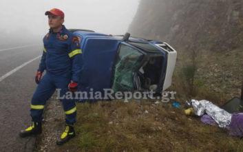 Φθιώτιδα: Ένας τραυματίας στις στροφές του Μπράλου, το αυτοκίνητο τούμπαρε και ο οδηγός εγκλωβίστηκε