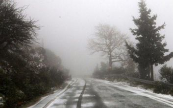 Κακοκαιρία Ηφαιστίων: Χιόνια, λυσσασμένοι άνεμοι και παγετός