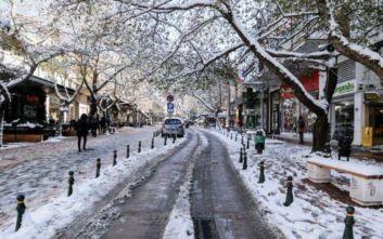 Μόνο το 3% της Ελλάδας καλύπτεται με χιόνια τον Ιανουάριο