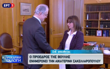 Ο Κώστας Τασούλας ενημέρωσε την Αικατερίνη Σακελλαροπούλου για την εκλογή της