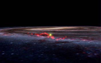 Μυστηριώδες τεράστιο κύμα από «εκκολαπτήρια» άστρων ανακαλύφθηκε στο γαλαξία μας