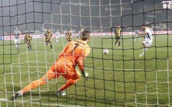Ο ΠΑΟΚ πήρε το ντέρμπι των Δικεφάλων, 1-0 την ΑΕΚ με πέναλτι του Βιεϊρίνια