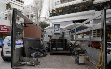 Αγία Παρασκευή: Φωτογραφίες από την έκρηξη σε ΑΤΜ