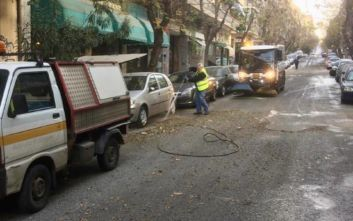 Επιχείρηση καθαριότητας στην Κυψέλη από τον Δήμο Αθηναίων