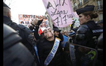 Παρίσι: Μικροεπεισόδια κατά τη διάρκεια διαδηλώσεων για το συνταξιοδοτικό σύστημα