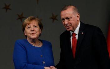 Συνάντηση Ερντογάν - Μέρκελ: Τι είπαν για Λιβύη, Συρία και προσφυγικό