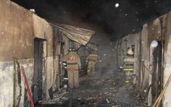 Έντεκα νεκροί σε φωτιά σε ξύλινο σπίτι στη Ρωσία
