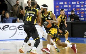Basket League: Διπλό στη Ρόδο η ΑΕΚ
