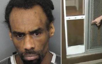 Καταζητούμενος για σεξουαλικές επιθέσεις πιάστηκε να εισβάλλει ημίγυμνος σε σπίτι από την πόρτα του σκύλου