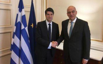 Με τον πρέσβη της Γαλλίας στην Ελλάδα συναντήθηκε ο Νίκος Δένδιας
