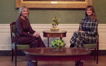 Η Μαρέβα Μητσοτάκη ευχαριστεί τη First Lady Melania Trump με μια ανάρτηση στο Instagram