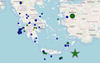 Σεισμός 5,2 Ρίχτερ έγινε αισθητός σε Ρόδο, Κάρπαθο και Κάσο